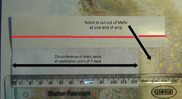 T-Tape cut